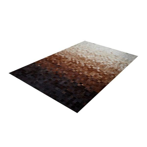 Koberec z pravej kože Sao Paulo Brown, 70x140 cm