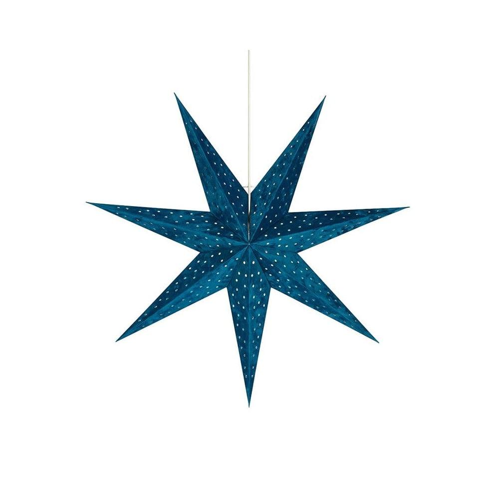 Modrá svetelná dekorácia Markslöjd Velours, výška 75 cm