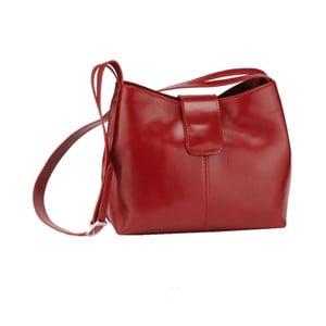 Kožená kabelka Kiwi, červená