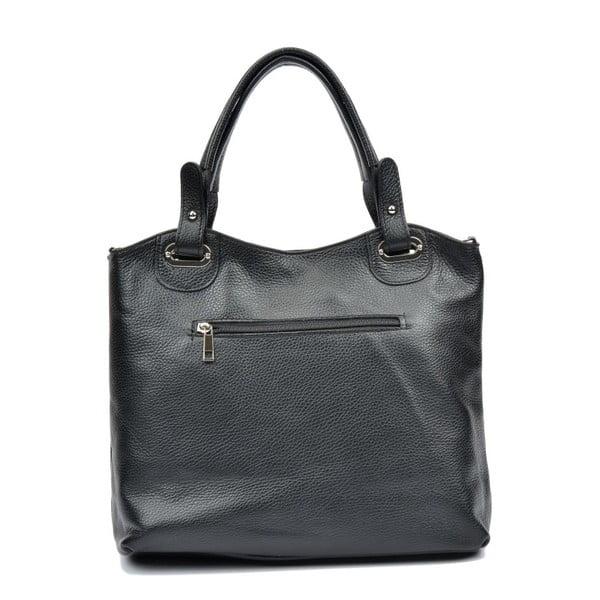 Čierna kožená kabelka Luisa Vannini Aida