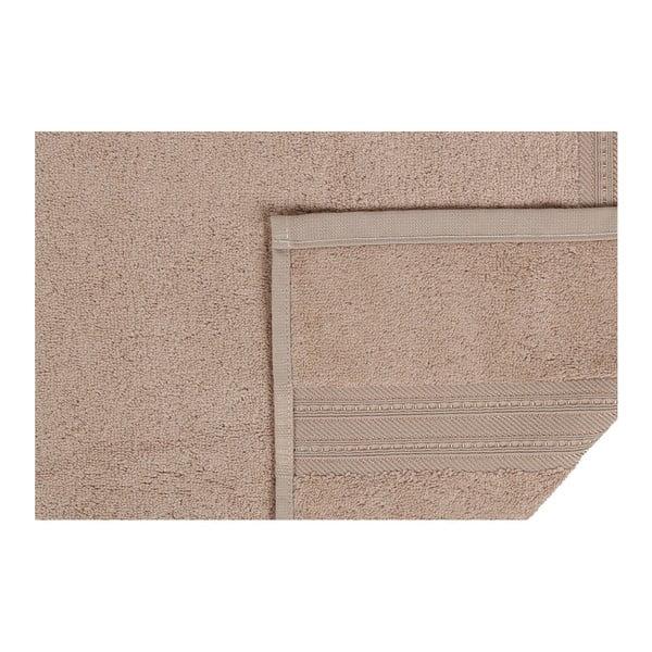 Hnedý uterák z bavlnených a bambusových vlákien Ted, 50×90 cm