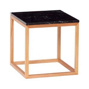 Dubový odkladací stolík s čiernou doskou Hübsch Albert