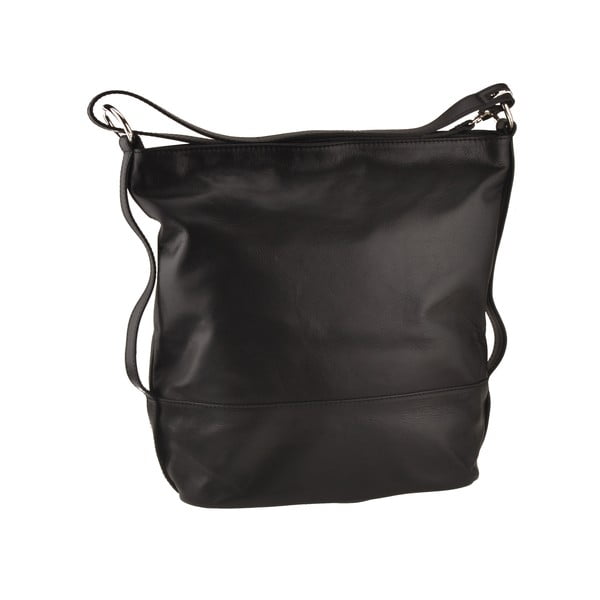 Kožená kabelka Dattero, čierna