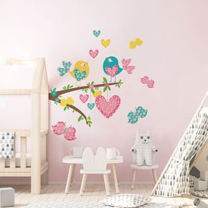 Sada detských samolepiek na stenu Ambiance Cute Little Birds