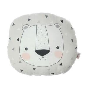 Detský vankúšik s prímesou bavlny Apolena Pillow Toy Argo Bear, 30 x 33 cm