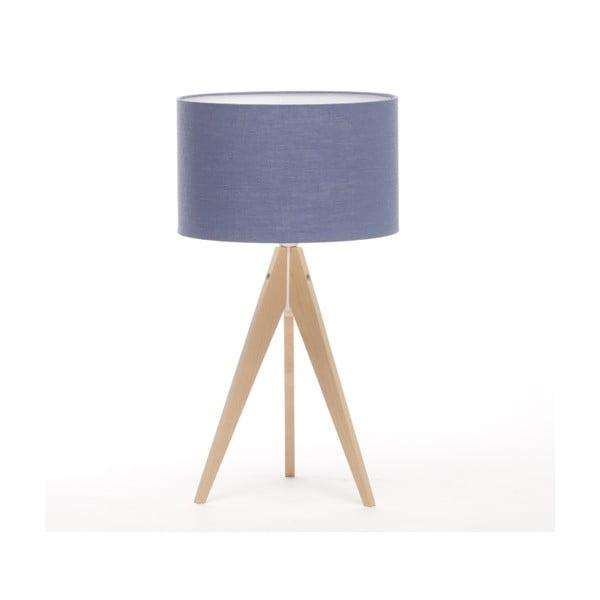 Stolná lampa Arist Dark Blue/Natural