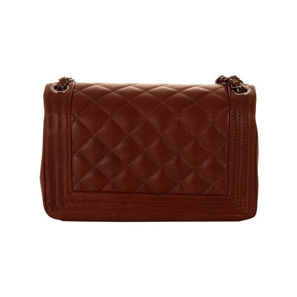 Hnedá kabelka z pravej kože Andrea Cardone Paula