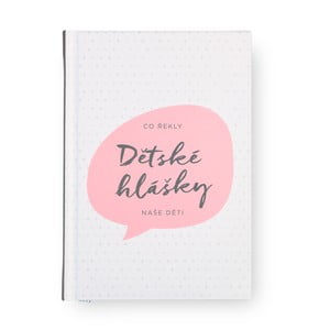 Ružový zápisník so záložkou na detské hlášky Bloque.