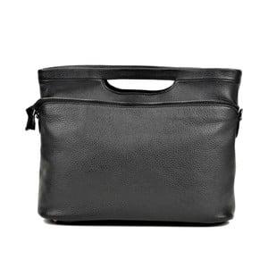 Čierna kožená kabelka Renata Corsi Karmenna