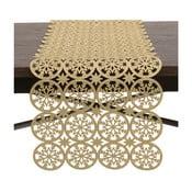 Behúň na stôl  v zlatej farbe InArt XMas Snowflake