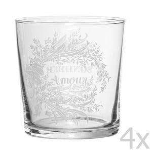 Sada 4 pohárov Amour, 500 ml