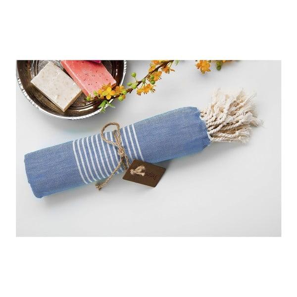 Hamam osuška Line Blue, 100x180 cm