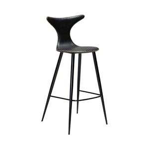 Čierna barová stolička z eko kože DAN–FORM Denmark Dolphin, výška 107 cm