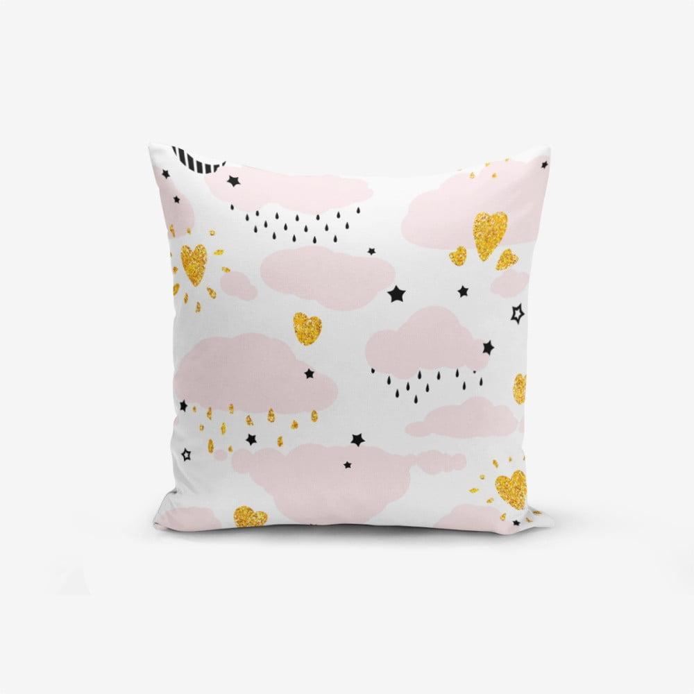 Obliečka na vankúš s prímesou bavlny Minimalist Cushion Covers Pink Clouds Modern, 45 × 45 cm