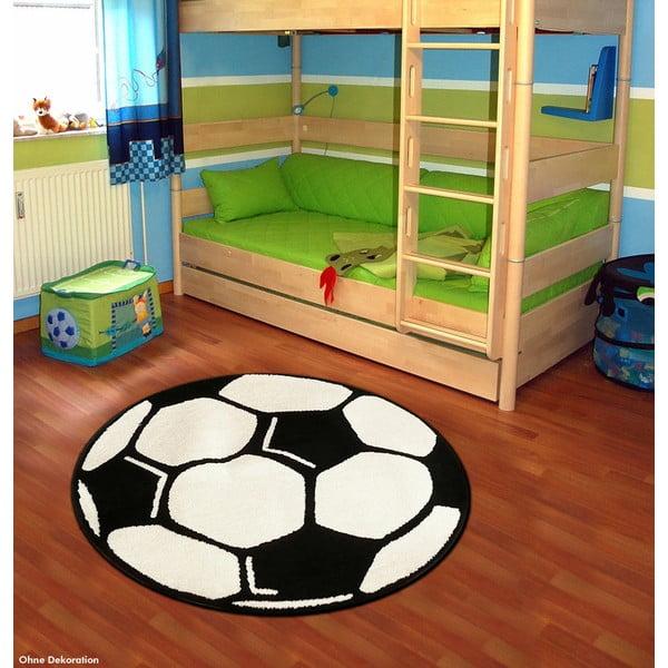 Detský koberec Hanse Home Futbalová lopta, ⌀100cm