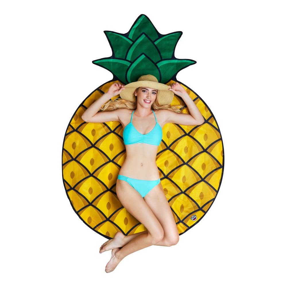 Plážová deka v tvare ananásu Big Mouth Inc., ⌀ 152 cm