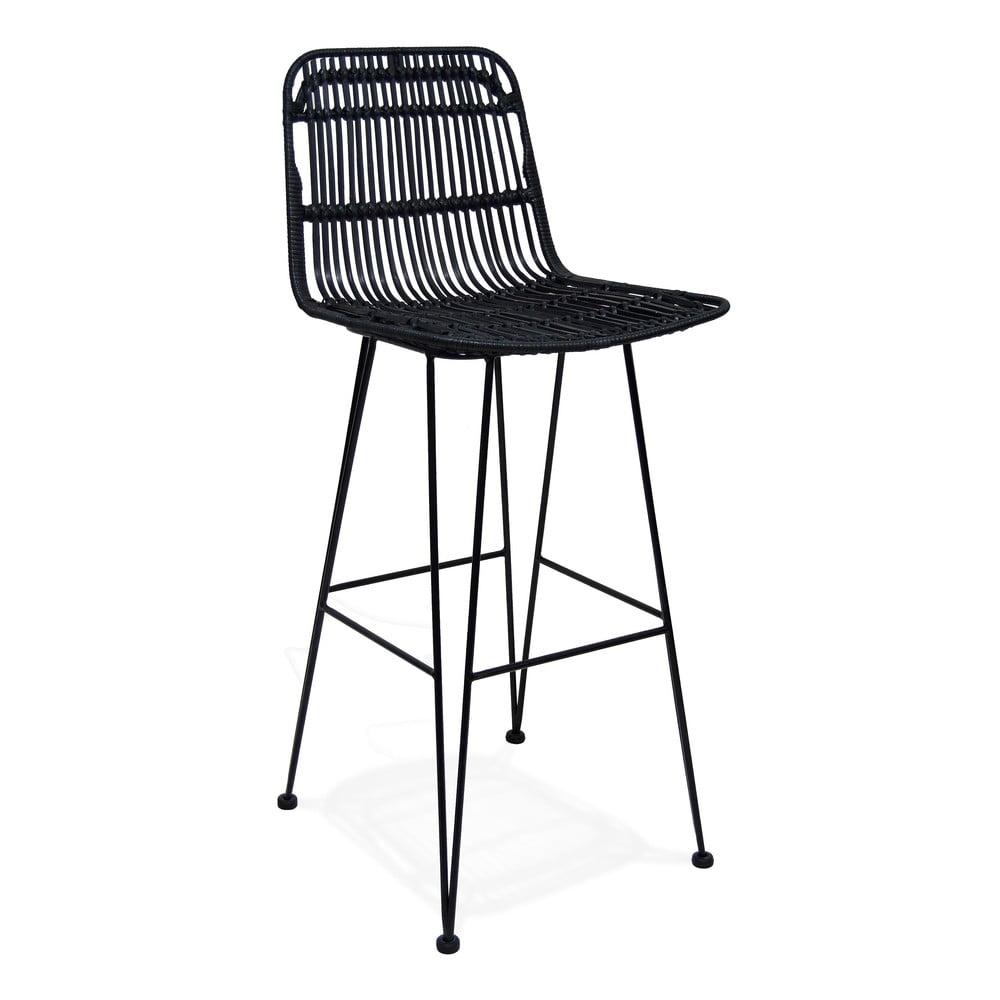 Čierna barová stolička Kokoon Liano, výška sedenia 75 cm