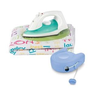 Set žehliacej podložky a zaťahovacej šnúry na prádlo Bonita Bright Txt