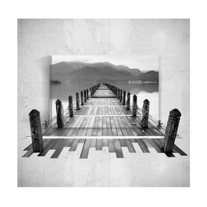 Nástenný 3D obraz Mosticx BW Dock, 40×60 cm