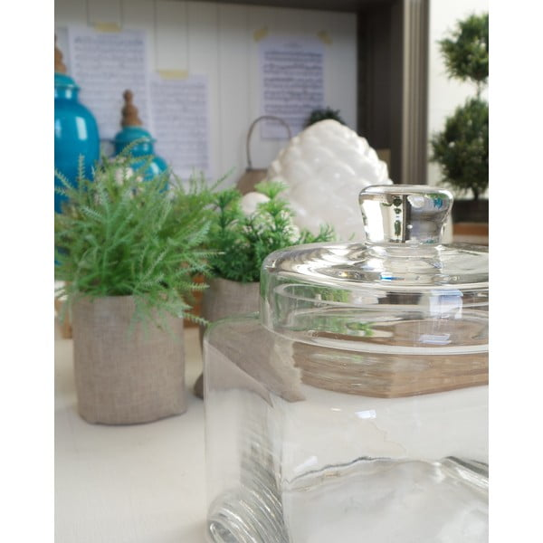 Dóza s vrchnákom Bolzano Clear Glass