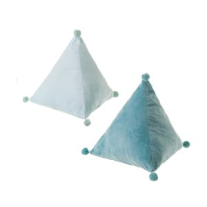 Sada 2 modrých vankúšov Unimasa Magic, 45 x 45 x 45 cm