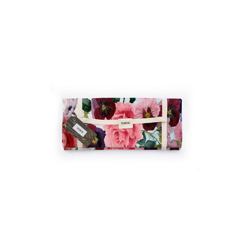 Piknik deka Surdic Manta Picnic Flowers s motívom kvetín, 140 x 170 cm