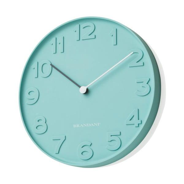 Modré nástenné hodiny Numbers