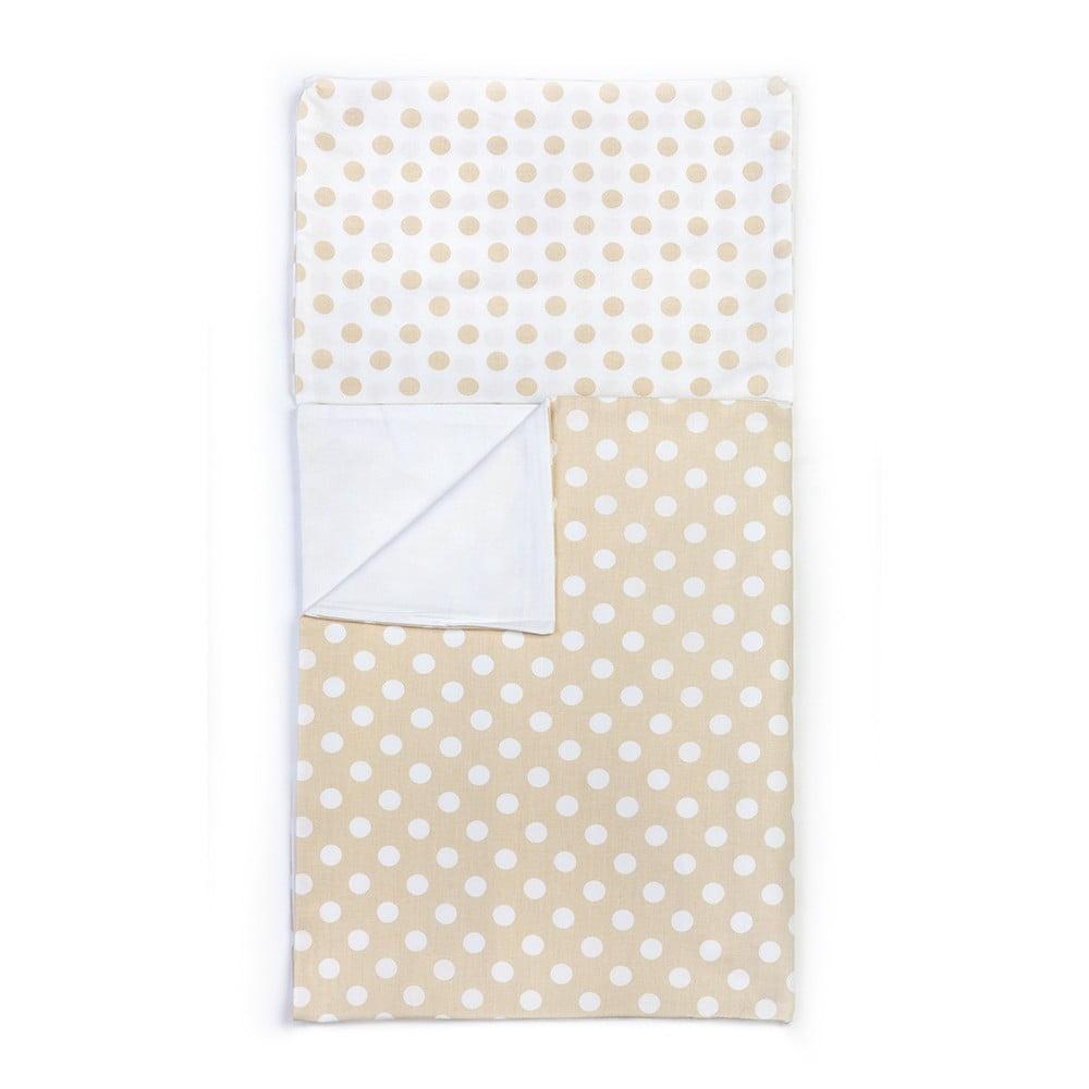 Detské béžové bavlnené obliečky YappyKids Dot, 100 × 135 cm