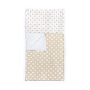 Detské béžové bavlnené obliečky YappyKids Dot, 100×135 cm