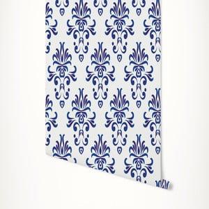 Modro-biela samolepiaca tapeta LineArtistica Grace, 60×300cm