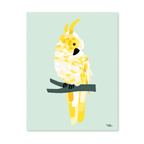 Plagát Michelle Carlslund Yellow Cockatoo, 50 x 70 cm