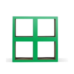Malá kartónová knižnica Bit  Square Green