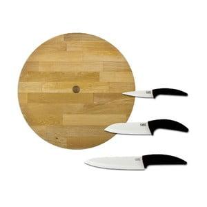 Sada nožov s drevenenou doštičkou Classe (4 ks)