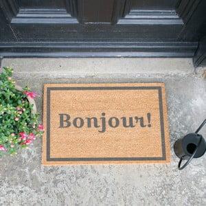 Rohožka Artsy Doormats Bonjour Grey, 40 × 60 cm