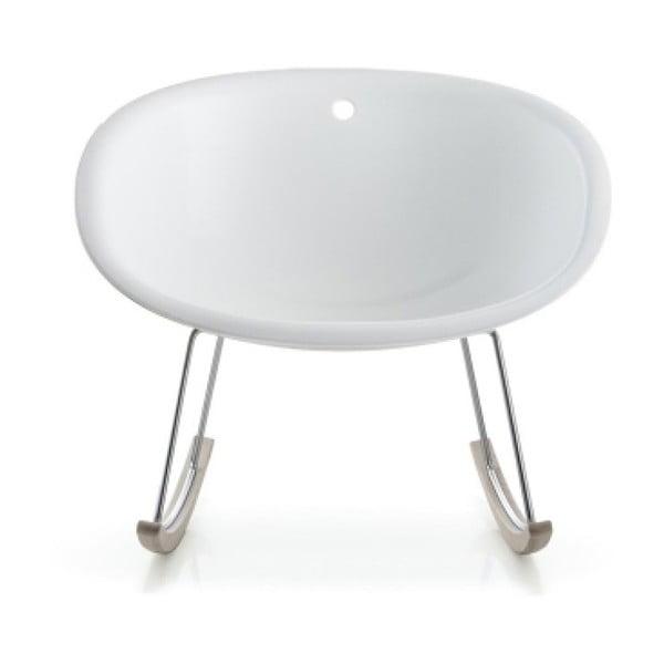Biela hojdacia stolička Pedrali Gliss 350