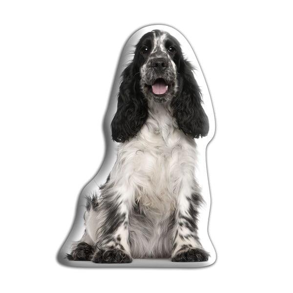 Vankúšik Adorable Cushions Čierno-biely kokeršpaniel
