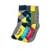 Štyri páry ponožiek Funky Steps Ruby, univerzálna veľkosť