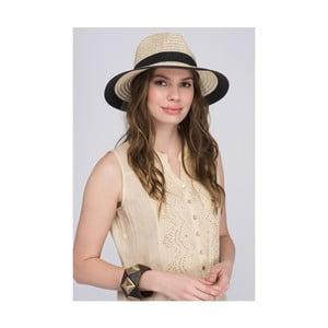 Dámsky klobúk s čiernym lemovaním z čistej bavlny NW
