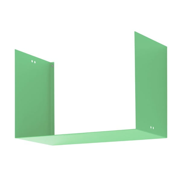 Nástenná polica Geometric Two, zelená