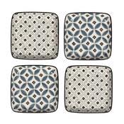 Sada 4 porcelánových tanierov Old Floor, 12.5 cm