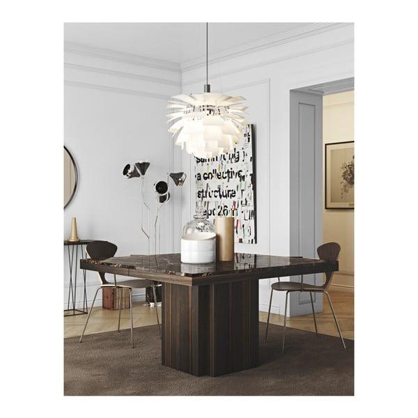 Hnedý jedálenský stôl s doskou z mramoru TemaHome Dusk