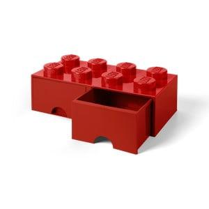 Červený úložný box s 2 zásuvkami LEGO®
