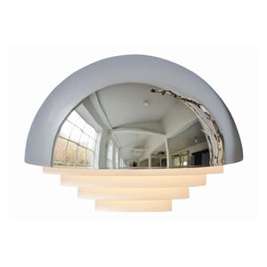 Strieborné nástenné svetlo Herstal Motown