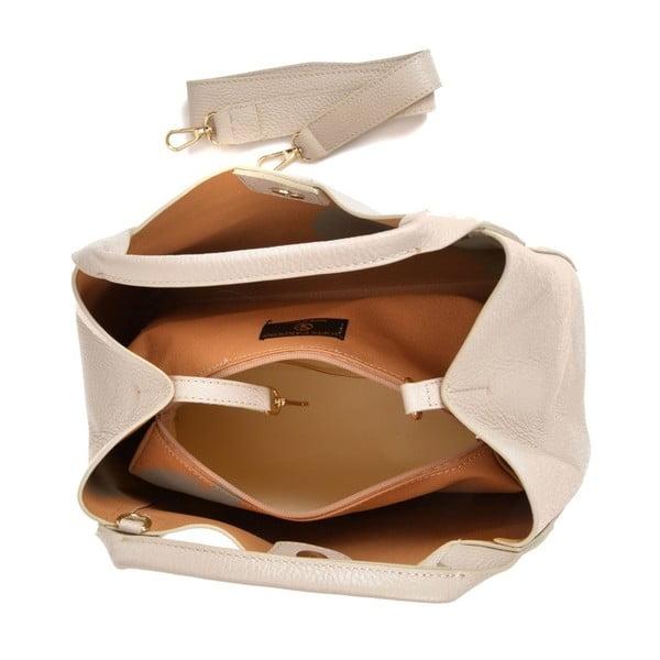 Béžová kožená kabelka Sofia Cardoni Mardon