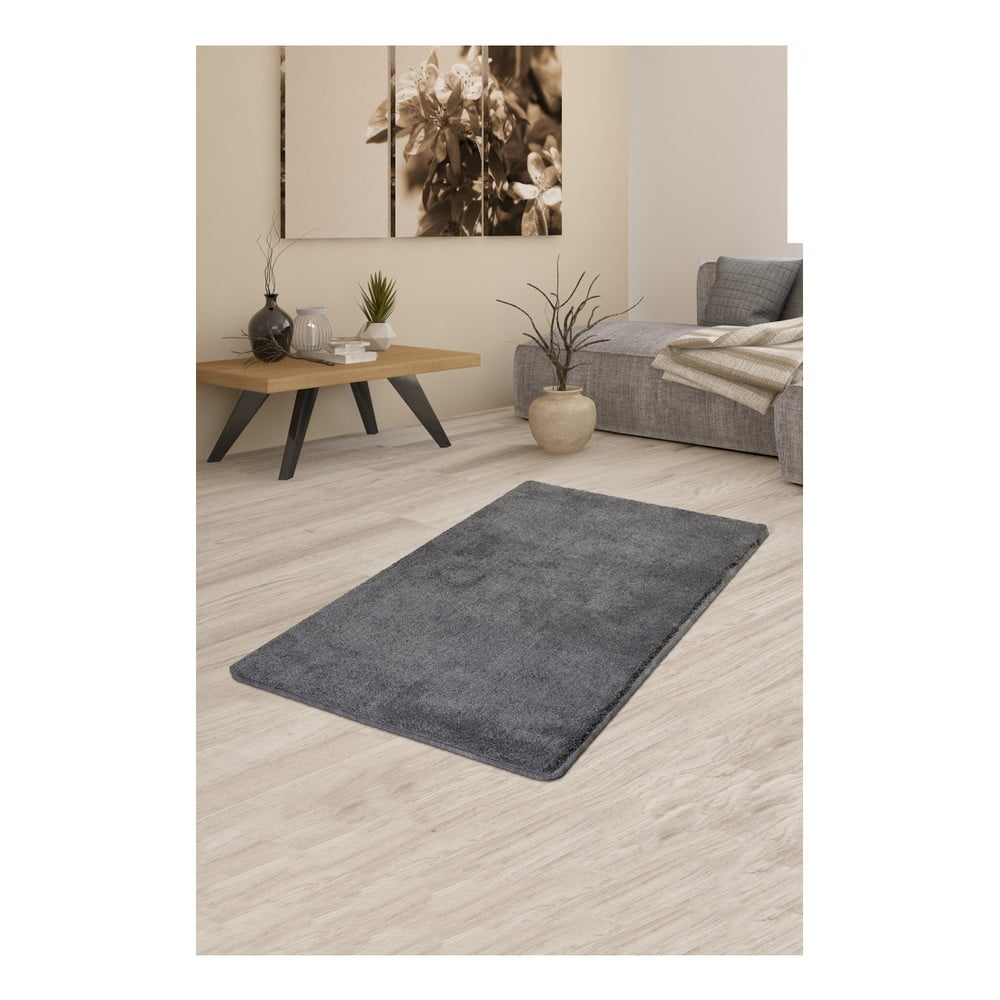 Sivý koberec Milano, 120 × 70 cm