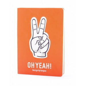 Zápisník Fingers, oranžový