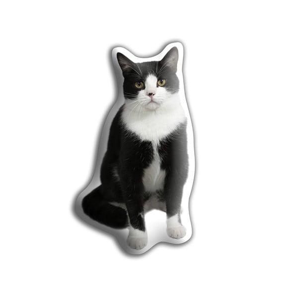 Vankúšik Adorable Cushions Čierno-biela mačka