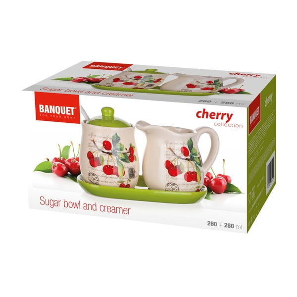 Sada mliečenky s cukorničkou Banquet Cherry, 4ks