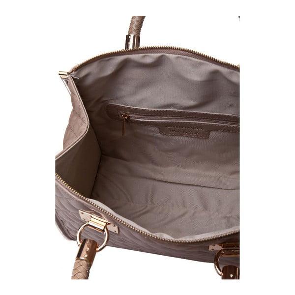 Kožená kabelka Quilted Taupe