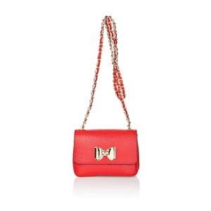 Kožená kabelka Bow Red